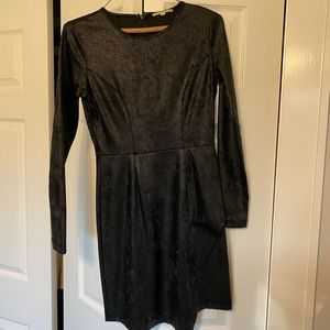 Gianni Bini black asymmetrical cocktail dress